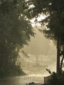 park in rain