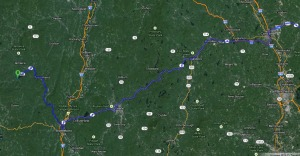 map to VT